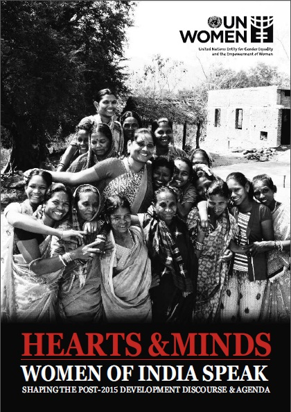 Cover page for Hearts and Minds Women of India Speak