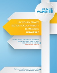 UN Women Private Sector Accountability Framework (UNW-PSAF)