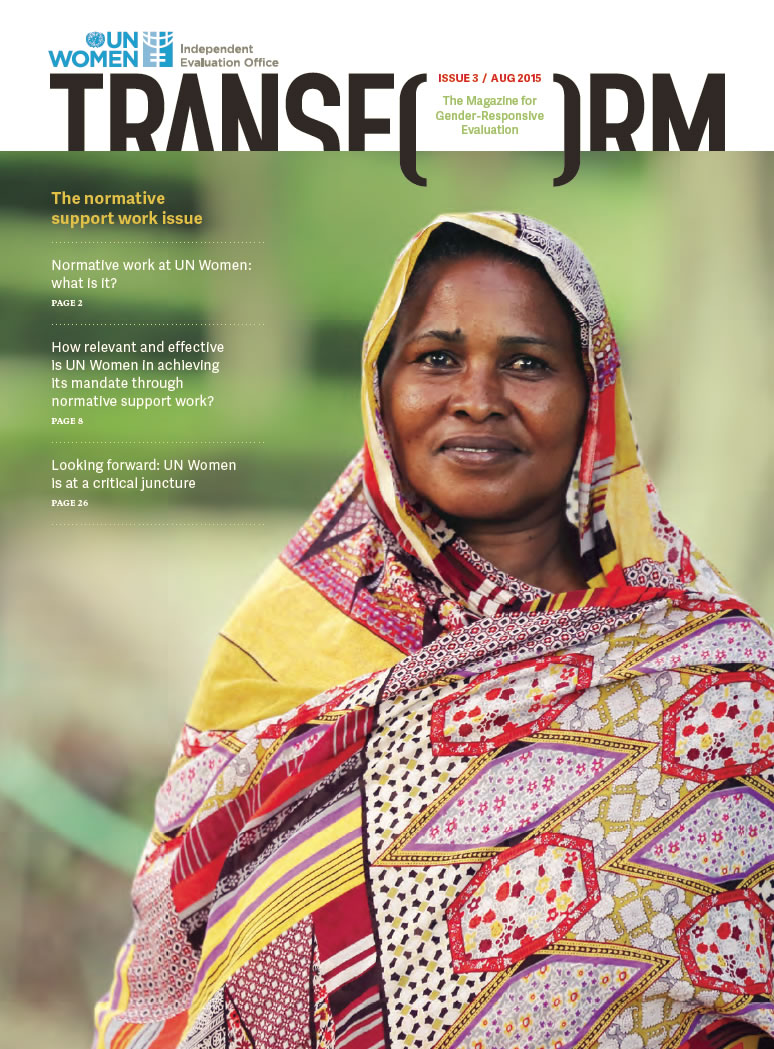 TRANSFORM – The magazine for gender-responsive evaluation – Issue 3, August 2015