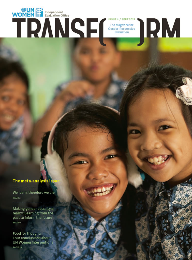 TRANSFORM – The magazine for gender-responsive evaluation – Issue 4, September 2015