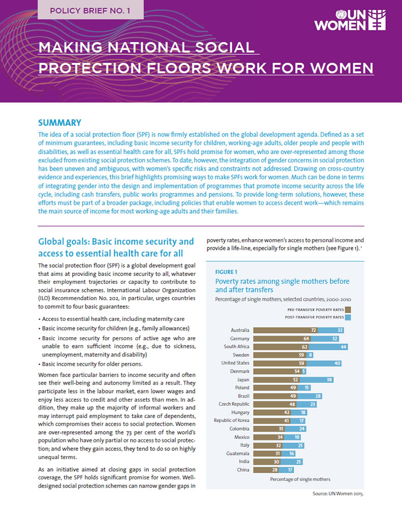 UN Women policy brief series