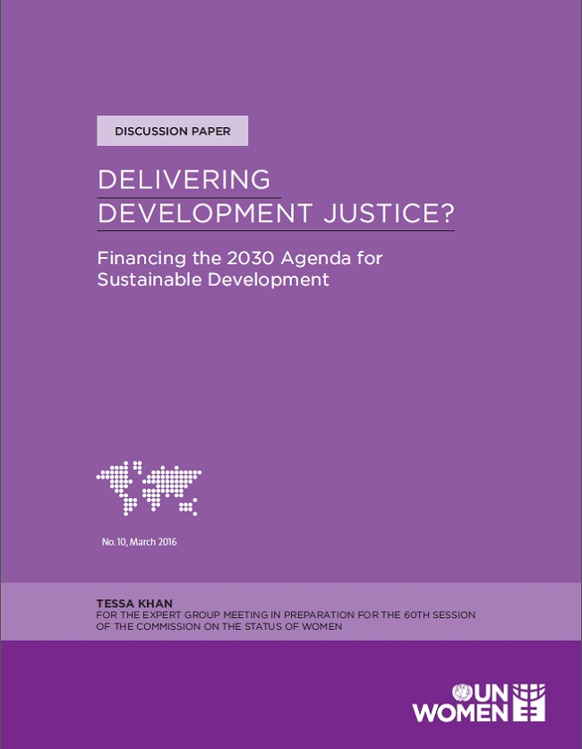 Delivering development justice? Financing the 2030 Agenda for Sustainable Development