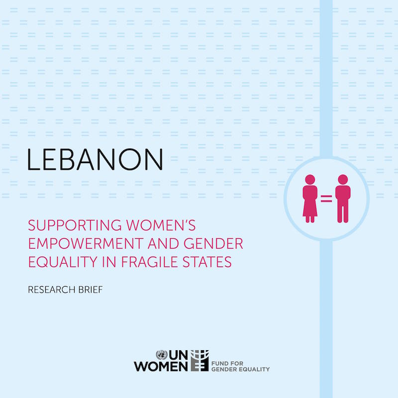 Supporting Women's Empowerment and Gender Equality in Fragile States: Research Brief - Lebanon