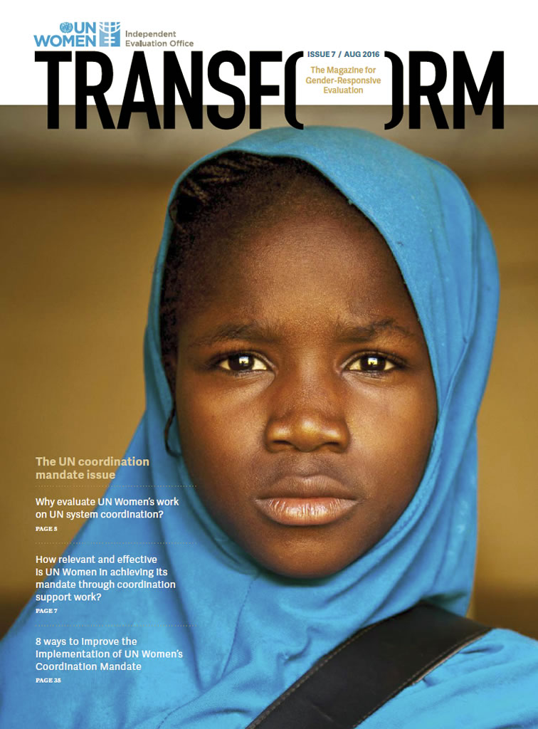 TRANSFORM – The magazine for gender-responsive evaluation – Issue 7, August 2016
