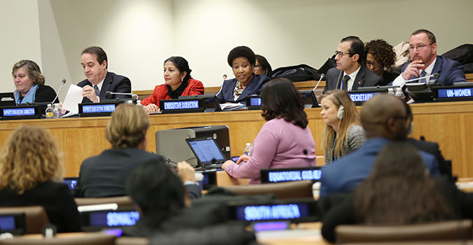 First regular session of the UN-Women Executive Board, February 2016. Photo: UN Women/Ryan Brown.