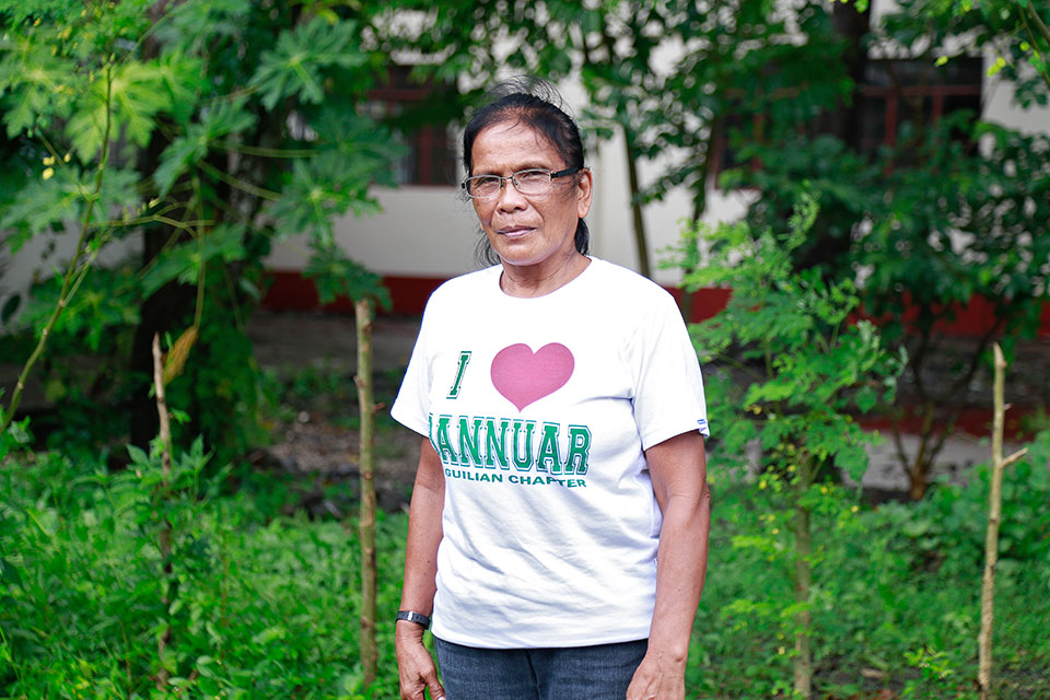 Virginia Estepa, a 62-year-old former woman migrant worker