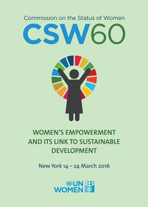 CSW 60: Women's empowerment and its link to sustainable development
