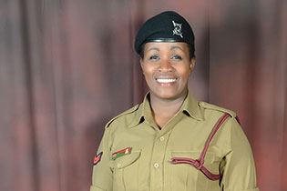 Lucy Nduati is a 34-year-old single mother and a police officer from Nairobi. Photo courtesy of Lucy Nduati