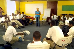 boys at violence prevention programme