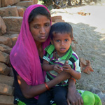 Bhuri Bibi and her son. Photo: UN Women/Swapna Bist-Joshi