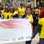 Peruvian activists march