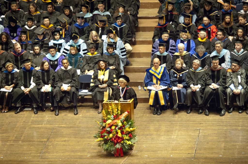 Michelle Bachelet gives commencement speech