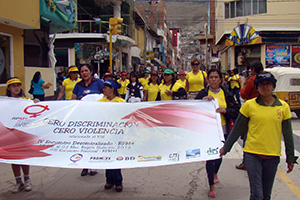 Activists fight HIV positive Peru