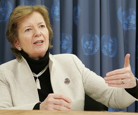 Mary Robinson. Photo credit: UN Photo/Jenny Rockett