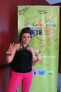 The acclaimed Colombian rapper Diana Avella during her contribution to the Young Women, Leadership and Governance Forum held in Panama, 23 to 25 November 2012, organized by UN Women, UNDP and UNFPA. Photo: UN Women/Caterina de Tena