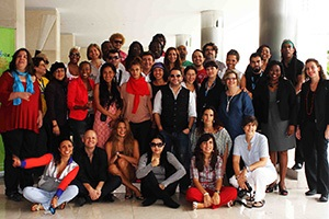 Artists from a variety of disciplines and from countries across Latin America and the Caribbean took part in a workshop in Panama from 28-30 September 2011, where the idea to create the regional Artists Network was born. Photo credit: UNiTE Campaign
