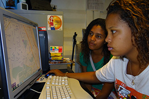 Girls use online tool against violence in Rio favela of Complexo do Alemao