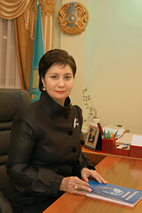Ms. Gulshara Abdikalykova is Head of the National Commission for Women Affairs and Family and Demographic Policy of Kazakhstan.