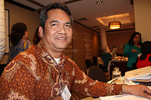 Im Sophea, Chief of the Victims Support Section of the Extraordinary Chambers in the Courts of Cambodia, participates in the UN Trust Fund's Capacity Development Workshop for new grantees in May 2013 in New York.