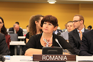Announcing Romania's decision to join the family of UN Women donors, Ambassador and Permanent Representative Simona Mirela Miculescu spoke passionately about Romania's commitment to gender equality and women's empowerment.