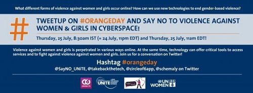 TweetUp on #OrangeDay and Say No to Violence against Women and Girls in Cyberspace