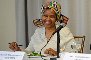 UN Women Executive Director Phumzile Mlambo-Ngcuka speaks at the