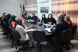 Mr. Hendra meets with the representatives of civil society organizations and Afghan women activists in Kabul on 6 October, 2013. Photo: UN Women/Ahmad Shikib Dost