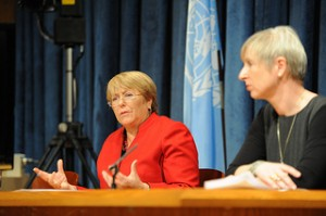 UN Executive Director Michelle Bachelet holds a press conference following the opening of the Commission on the Status of Women on 4 March 2013 at the United Nations Headquarters in NYC. Photo Credit: UN Women/Catianne Tijerina