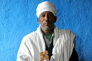 The priest Melakesina, head of the Ethiopian Orthodox Church in Kobo district, is one of 100 religious leaders who participated in trainings on gender-based violence supported by UN Women. Photo: UN Women/Kristin Ivarsson