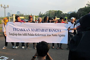 Action to support Pluralism, AWARE and Solidaritas Perempuan. Photo: Solidaritas Perempuan and AWARE