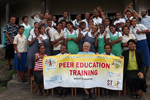 Students from three schools on Ovalau Island at a Peer Education Training in July 2013. Photo: National Substance Abuse Advisory Council, Fiji