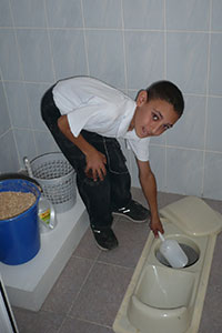 "Armenian Women for Health and Healthy Environment supported the construction of ""ecosan"" toilets in schools in rural areas of Armenia. Photo: Armenian Women for Health and Healthy Environment"