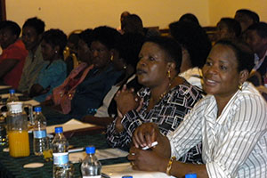 "Women MPs in the 8th Parliament of Zimbabwe and members of civil society gathered on 4 September 2013 to honour female candidates who participated in the 2013 elections, and to ""start the journey"" for women's increased participation in the 2018 elections. The meeting was convened by the Women in Politics Support Unit (WiPSU) civil society organization."