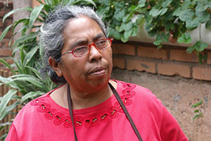 Maria de la Cruz Bustillo, women's rights defender in Nueva Suyapa. Photo: Lucía López, UN Women