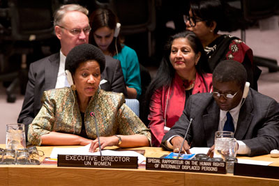 UN Women Executive Director speaks at the UN Security Council's Open Debate on Women, Peace and Security on 28 October 2014. Photo: UN Women/Ryan Brown
