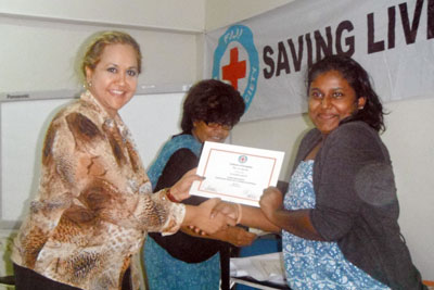 Fiji Red Cross training