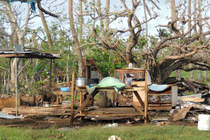 Cyclone destruction in Tonga
