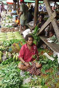 A market vendor at Gordons market in Port Moresby. Photo: UN Women Papua New Guinea/Alethia Jimenez