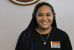 Tahere Si'isi'ialafia's is a 24-year-old Samoan youth delegate to the SIDS Conference