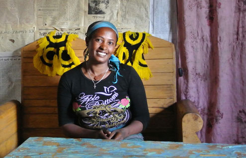 Mentamer is one of the nearly 10,000 women in Ethiopia participating in a UN Women and UN Population Fund economic empowerment project.  Photo: UN Women/Kristin Ivarsson