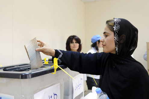 Parliamentary and Presidential elections in the Kurdistan region of Iraq. Photo: UN Photo/Rick Bajornas