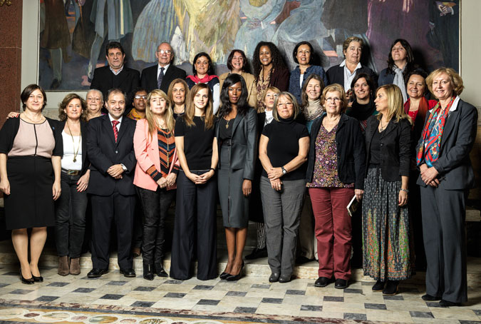 Emma Watson met with women's advocates and parliamentarians at an event in Uruguay on 17 September. Photo: UN Women/Marco Grob. Photo: UN Women/Marco Grob