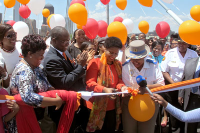 Executive Director brings orange to the iconic Nelson Mandela bridge in South Africa