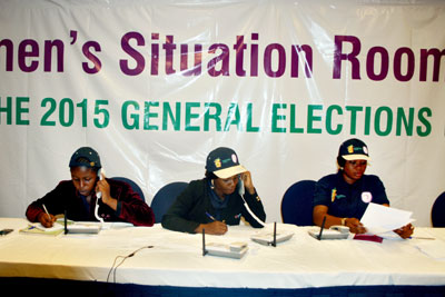 Around Nigeria's general elections, the Women's Situation Room received more than 7,000 calls from the public and election monitors combined, reporting incidents ranging from voting complaints to gender-based violence