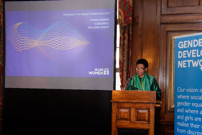 UN Women Executive Director Phumzile Mlambo Ngcuka at the Progress Report launch in London
