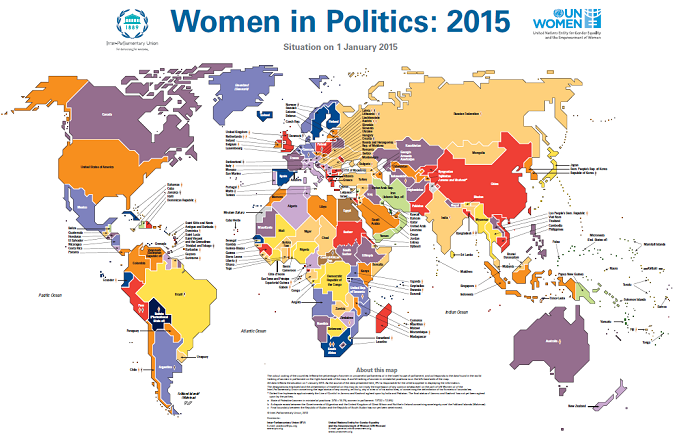 Clickable image of part of the Women and Politics map 2015