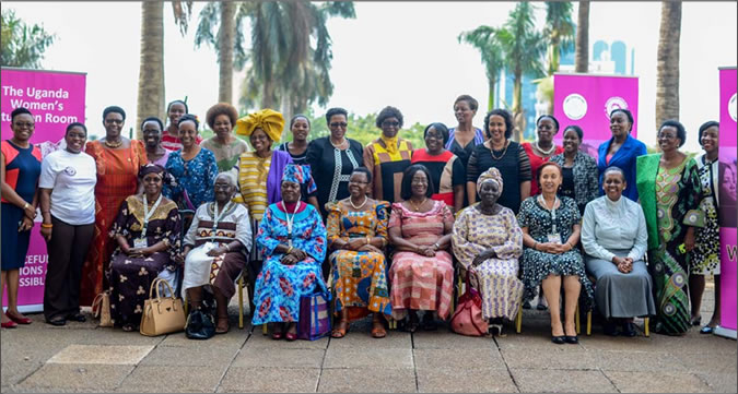 Members of the Uganda Women's Situation Room, including eminent women of Uganda and Africa, at the official opening on 15 February 2016 at the Sheraton Hotel in Kampala. Photo: UN Women/Nadine Kamolleh.
