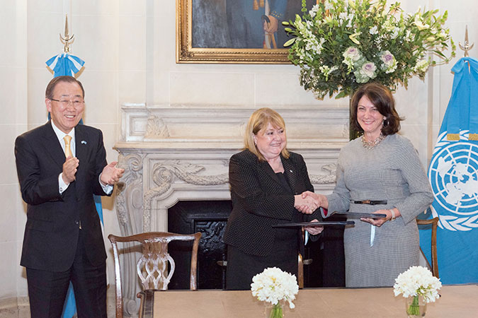 UN Women signs Letter of Intent to establish a Country Office in Argentina during the official visit of UN Secretary-General