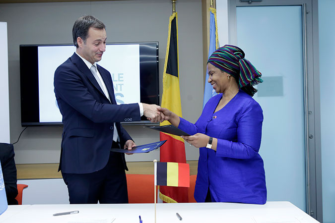 Belgium and UN Women sign agreement to promote women's rights and gender equality