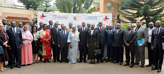 Attendees at UN Women's HeForShe campaign launch in Cameroon. Photo: UN Women Cameroon